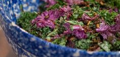 A tasty and #EatClean #salad with a great crunch that #vegetarians and meat-eaters alike will love! Pair with your preferred #protein to round it out. #kale #kalesalad #spicy #seeds #spicyseeds #eatcleandiet #eatingclean #cleaneating #toscareno