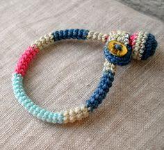 Crochet Baby Bracelet Colorful Baby Bracelet by MariaKonstantin