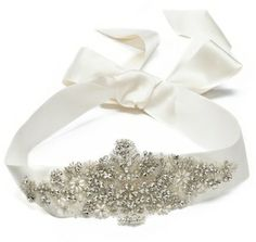 Marchesa Crystal Ribbon Belt on shopstyle.com