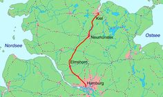 Hamburg-Altona-Kiel Railway (Christian VIII. Østersø Jernbane), Germany