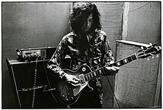 Jimmy Page during the recording of Led Zeppelin Two with his First LP. Story is that it was either given or sold to him by Joe Walsh who was in the James Gang then.
