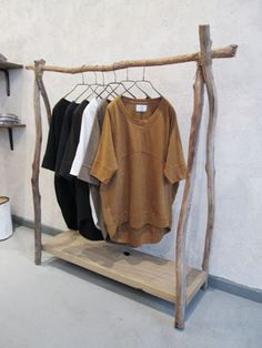 Rustic Wood Clothes Rack