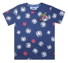 FFSM67 Spider-Man Repeat Print T-Shirt