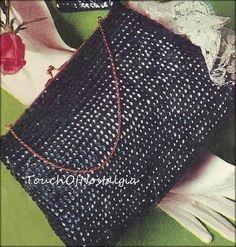Crochet SEQUINED HANDBAG Crochet Pattern  by touchofnostalgia7