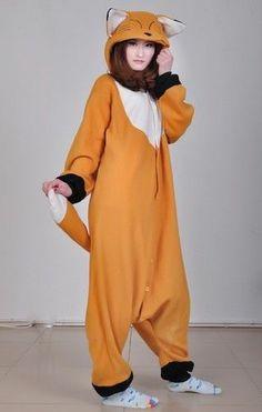 Animal Anime Unisex Adult KIGURUMI Onepiece Pajamas Cosplay Costumes Sleepwear | eBay fox!