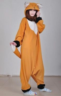 Animal Anime Unisex Adult KIGURUMI Onepiece Pajamas Cosplay Costumes Sleepwear | eBay fox!