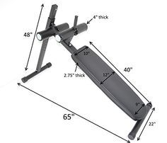 HD Abdominal Board 12 Position Adjustable Ab Decline Bench Handle Wheels Gym Style *** Find out more about the great product at the image link.(This is an Amazon affiliate link)