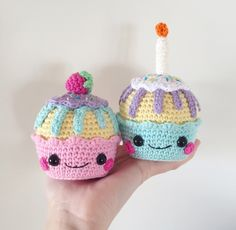 Happy Cupcakes Amigurumi Pattern