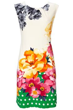 Floral and Spot Jersey Dress