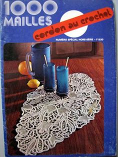 Cordon au Crochet - 1000 Mailles.  50-page booklet with Romanian Point Lace crochet patterns and instructions.