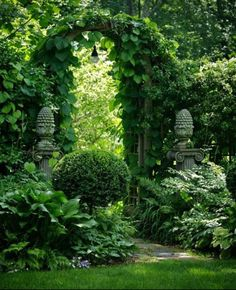 Gorgeous, lush garden entry gate