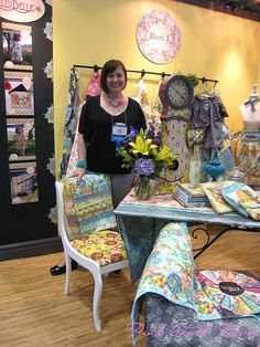 Quilt Market Spring 2012 - BariJ won a best booth award. LillyBelle is her first collection for Art Gallery Fabrics.