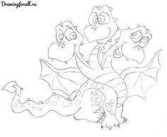 как нарисовать дракона ребенку