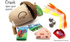 """Calling all crafters out there, are you """"Nuts for Creativity""""?!? Introducing Squirrel Craft Kits, endless fun that will inspire your imagination...just in time"""