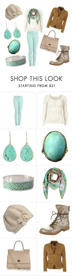 """Minty Fresh"" by sophisticated106 ❤ liked on Polyvore featuring J Brand, VILA, Jamie Joseph, Stella & Dot, Matthew Williamson, Inverni, A.S. 98, Dolce&Gabbana and G-Star Raw"