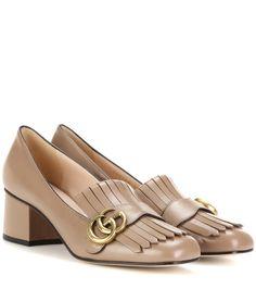 GUCCI Leather Loafer Pumps. #gucci #shoes #pumps