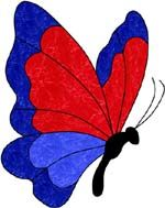 Darryl's Stained Glass Patterns- Lots of Butterfly suncaters!