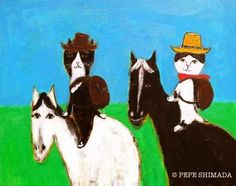 """Two cowboy cat"""