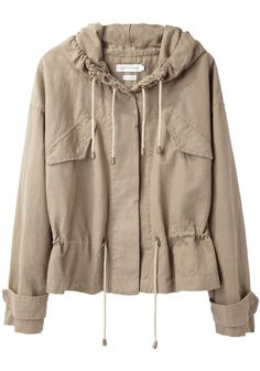 Étoile Isabel Marant canvas drawstring jacket is a great little spring coverup.