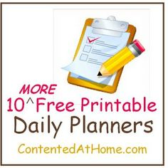 10 More Free Printable Daily Planners