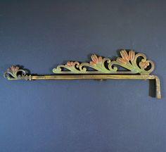 Set Of 4 Antique Extendable Curtain Rods Art Nouveau Metal Swing Arm Cast
