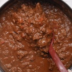 Beef stew meat and ground beef combine in this easy keto chili without beans. I give instructions for stove top, Instant Pot, and Crockpot.