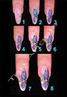 Nail art.  Nail Design by Ten Angels