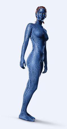 'X-Men: Days of Future Past' promotional image of Jennifer Lawrence as Mystique. Jennifer Lawrence X Men, Jennifer Lawrence Mystique, Marvel Women, Marvel Girls, Marvel Heroes, X Men Mystique, Mystique Marvel, Xman Marvel, Mystique Costume