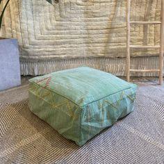 green cactus silk cotton dog bed Boho Trends, Beautiful Textures, Modern Bohemian, Floor Cushions, Nursery Room, Dog Bed, Vintage Looks, Hand Weaving, Interior Decorating