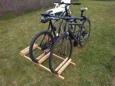 DIY Bike Stand : 7 Steps (with Pictures) - Instructables Bike Stand Diy, Diy Bike Rack, Bike Holder, Bicycle Rack, Bike Stands, Rack Velo, Garage Velo, Wood Bike, Bike Shed