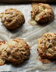 Enjoy this delicious gourmet recipe for Gruyère-and-Caramelized Onion Scones, adapted from Alyce Shields.