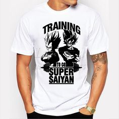 Training To Go Super Saiyan Design Men's T shirt Dragon Ball Goku Z Vegeta Printed Tees Anime Tops-in T-Shirts from Men's Clothing & Accessories on Aliexpress.com | Alibaba Group