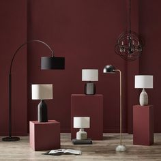 Refresh your home for less. Shop stylish decor & furniture   Bouclair.com Metal Table Lamps, Ceramic Table Lamps, Lamp Bases, Table Beton, Cement Table, Cement Color, Floor Finishes, Drum Shade, Decoration