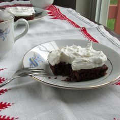 Brownies with Whipped Coconut Cream! Find the recipe and other Favorite Recipes from 2015!