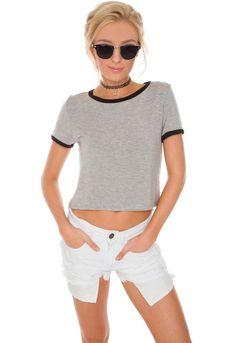 Elliana Distressed Shorts