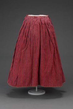 Red and blue heavy striped woolf petticoat