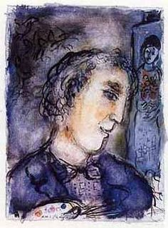Marc Chagall - Between Surrealism & NeoPrimitivism - Self-portrait Marc Chagall, Pablo Picasso, Chagall Paintings, Modigliani, Fauvism, Jewish Art, Manet, Henri Matisse, French Artists