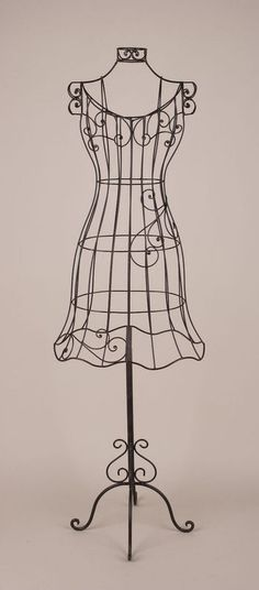 Decorative dress form (I love wrought iron!)