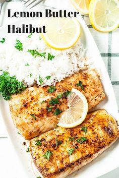 Recipes – Lemon Butter Halibut Recipes By Vance: Recipes – Lemon Butter Halibut Fish Recipes, Seafood Recipes, Dinner Recipes, Cooking Recipes, Healthy Recipes, Lemon Recipes, Cooking Ideas, Healthy Eats, Garlic