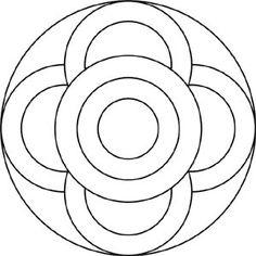 Mandala Vorlage fpr Kinder - Symbole und Kreise