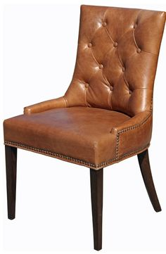 Delicieux From Houzz: Top Grain Leather Dining Chair, Antique Brown. $488. Http: