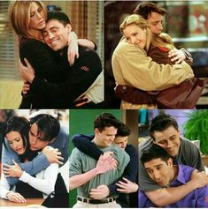Joey and his hugs! I need a friend like this!