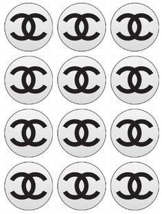 Edible Chanel Cupcake Toppers or Cookie Toppers Edible Image for Birthday party or Bridal Shower Bachelorette