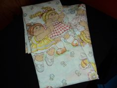 CABBAGE PATCH 1983 OAA Twin Flat Sheet Character Kid's Bedding Girl's Doll Linen