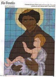 santo antonio em ponto cruz gratis - Pesquisa Google
