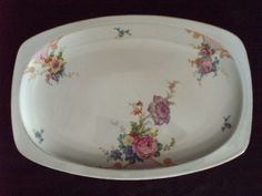 Epiag Czechoslovakia China 1920-1945 | epiag czechoslovakia china bridal rose serving platter vtg epiag ...