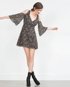 Zara, PRINTED DRESS, was $49.90, now $12.99 From Zara
