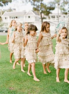 I want multiple Flower Girls. - we'll need the flower girl parade and guest response to it in a big shot!