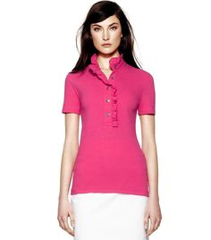 Women Polo - pink touch