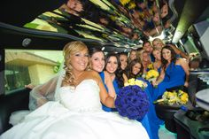 The limo ride with the bride!